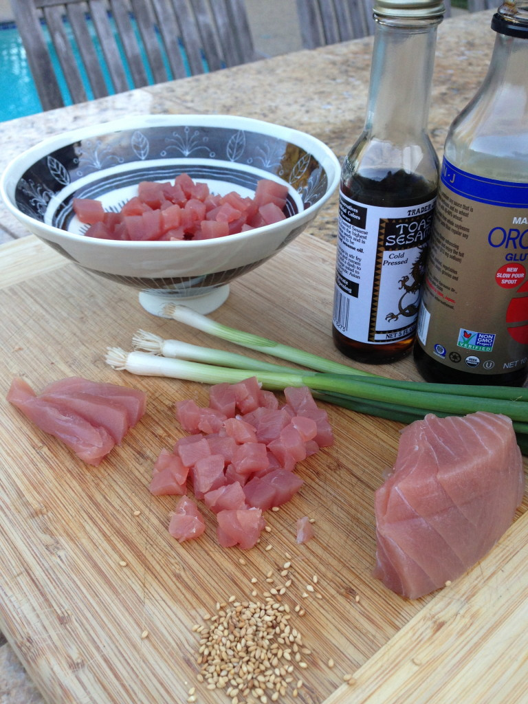 Ingredients Ready for Poke