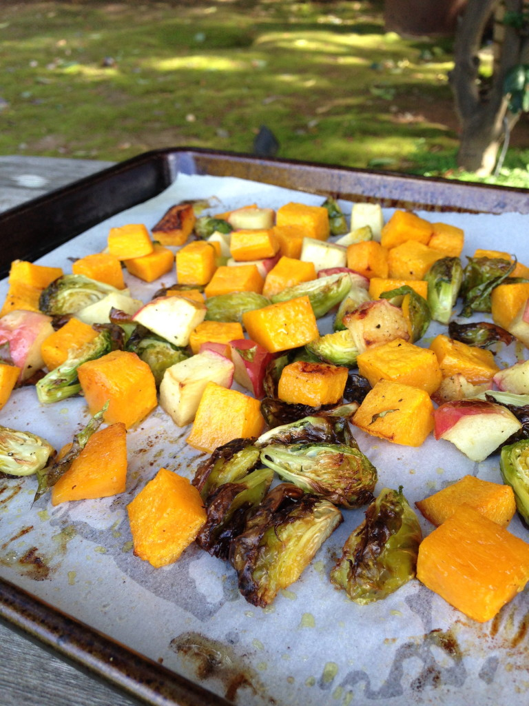 Roasted Apple and Vegetables