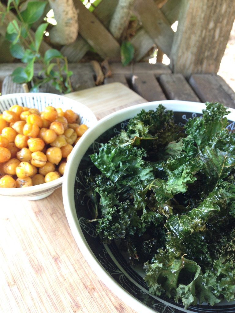 Kale chips and snacks